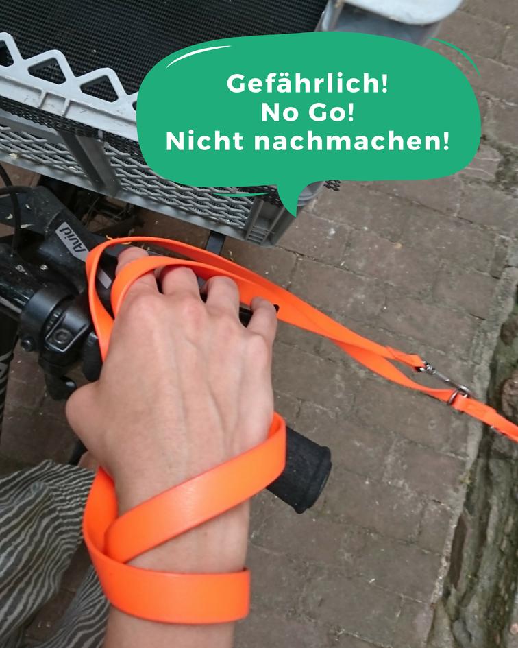 Fahrrad-Gefahr-Hunde-Leine-Am-Handgelenk