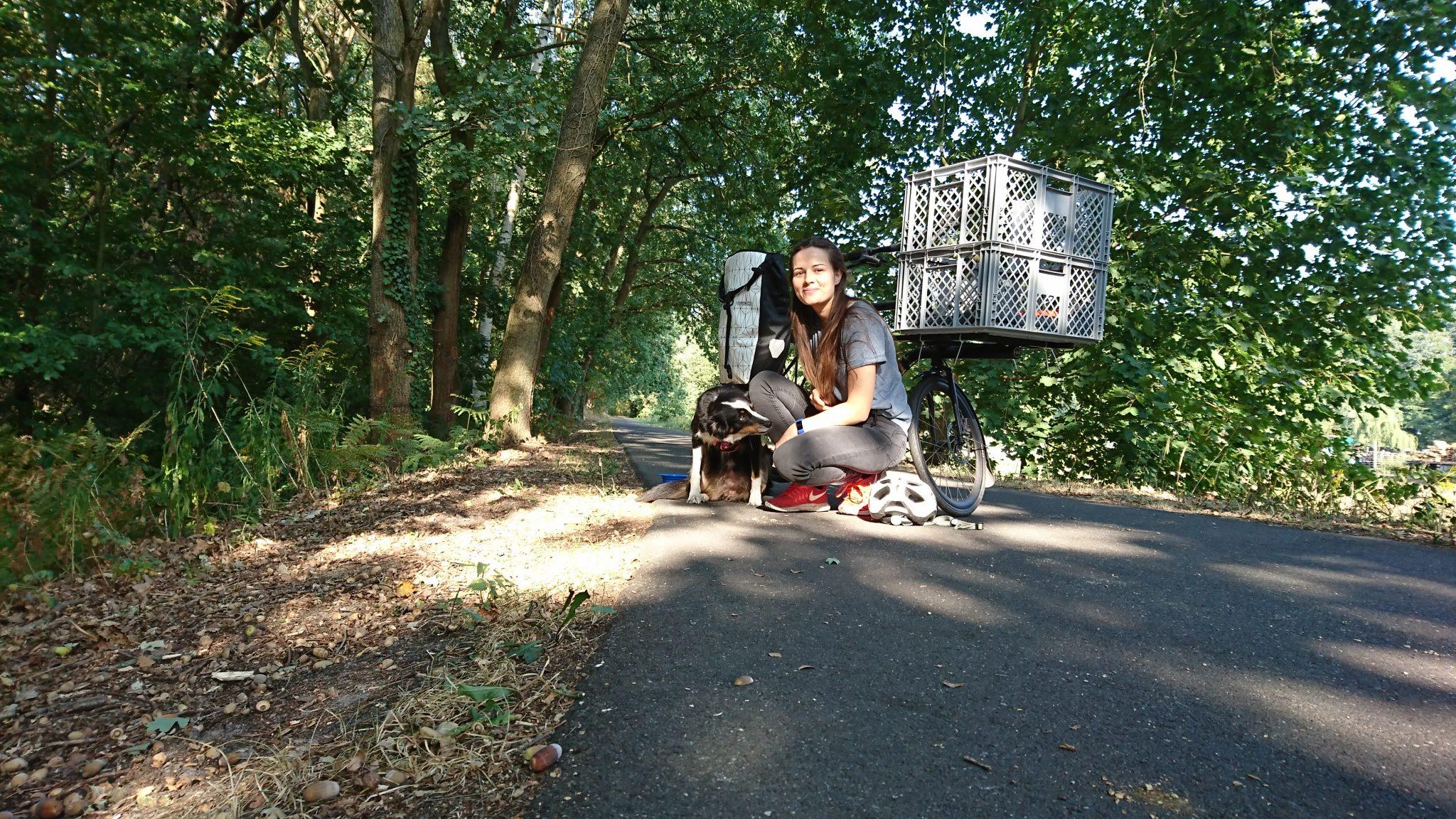 Fahrradtour Flaeming Skate Heaven und ich auf dem Radweg