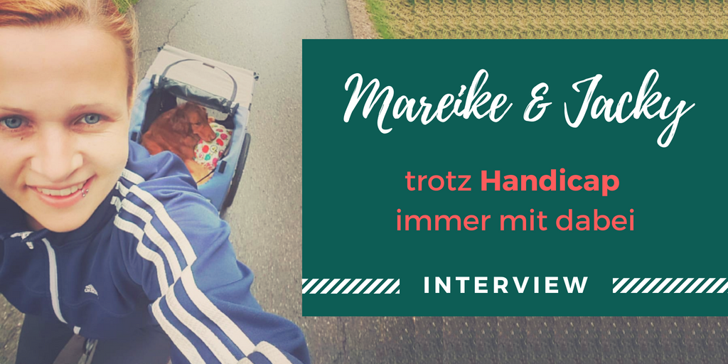 Titelbild Interview Mareike Fahrradfahren mit Handicap Hund