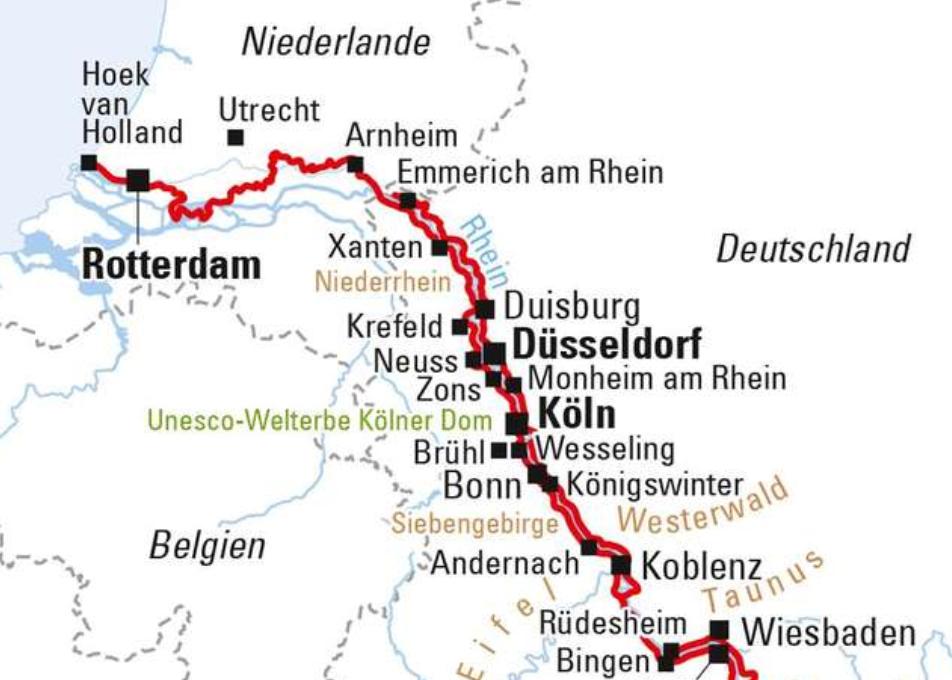 Rheinradweg Abschnitt Niederlande